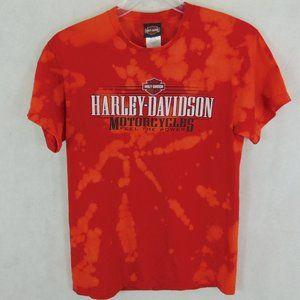 Harley Davidson Bleached out Tie Dye T-Shirt sz M